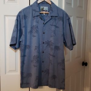 AFTCO Blue Water short sleeve button shirt EUC